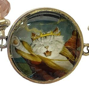 The Emperor Cat Roars Beaded Bracelet NEW